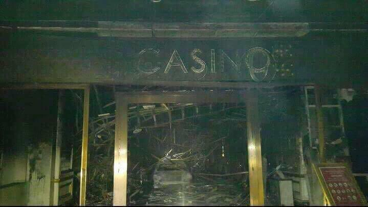 TORCHED. The casino floor at Resorts World Manila after attacks took place past midnight of June 2. Photo sourced by Rappler
