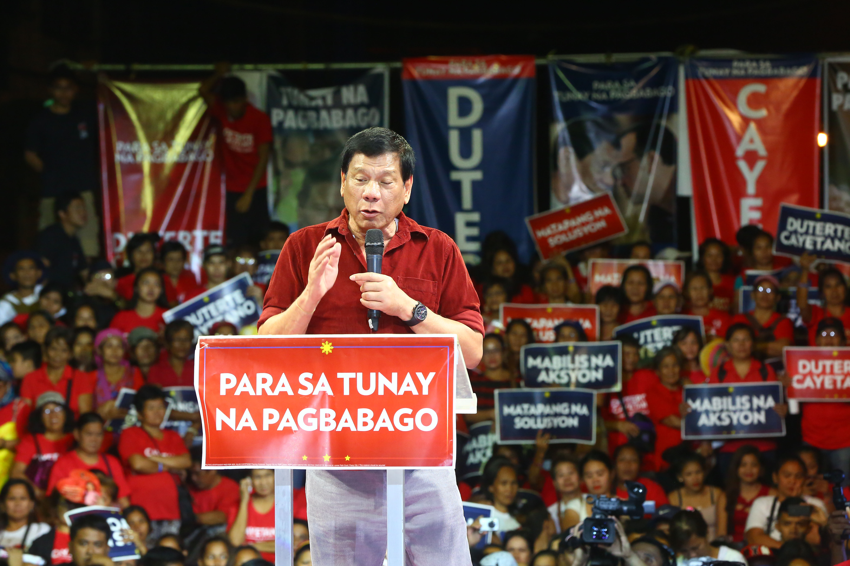 'COMMON SENSE.' Rodrigo Duterte says, 'If you live in a nipa hut, do not throw a banquet for the entire village.' Rappler file photo