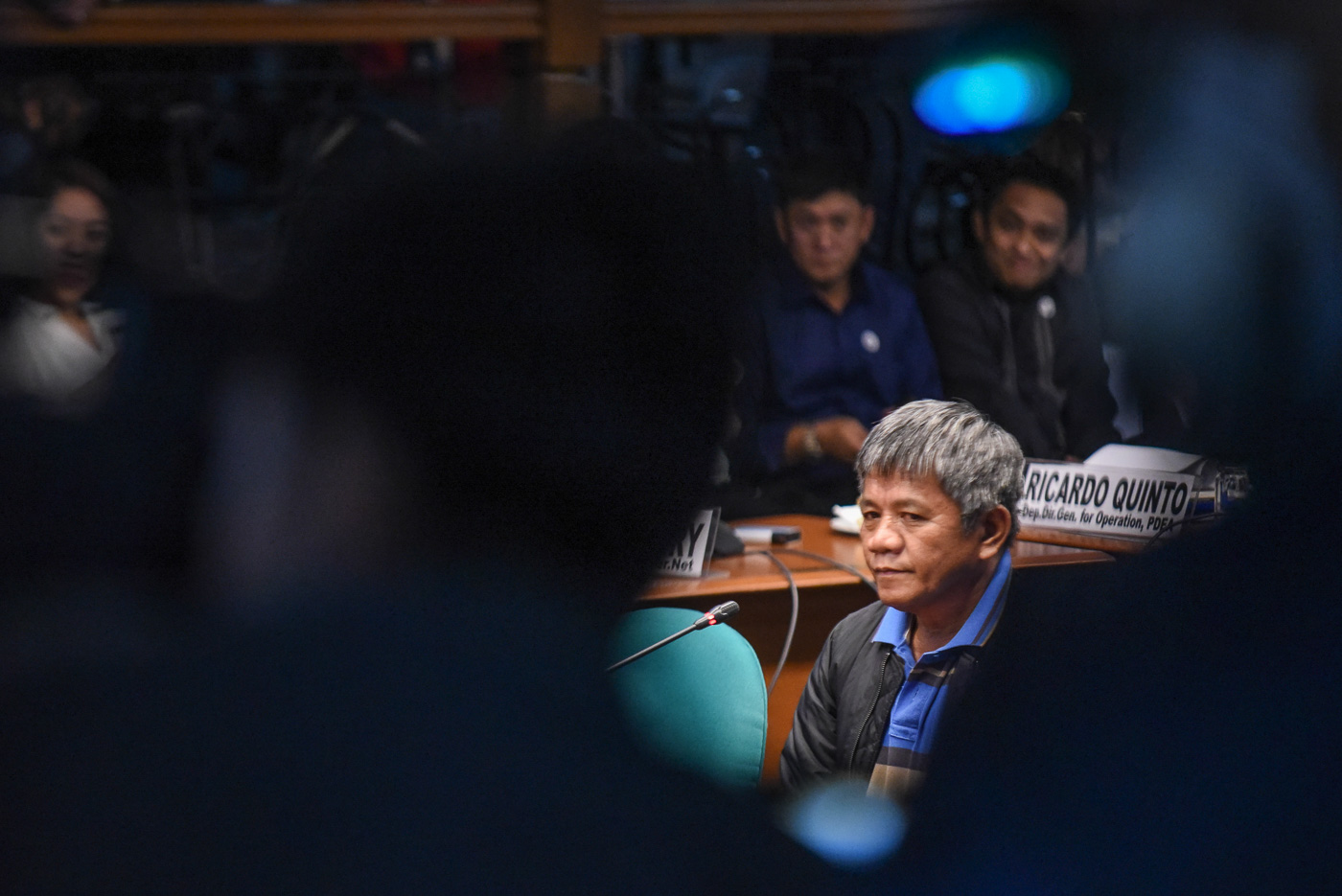 SELF-CONFESSED HITMAN. Edgar Matobato faces a Senate hearing on extrajudicial killings on September 22, 2016. File photo by LeAnne Jazul/Rappler