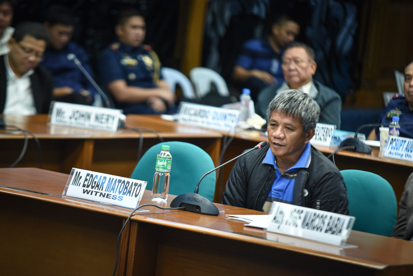 'HITMAN.' Edgar Matobato testifies at the hearing of the Senate committee on human rights and justice on September 22, 2016. Photo by LeAnne Jazul/Rappler