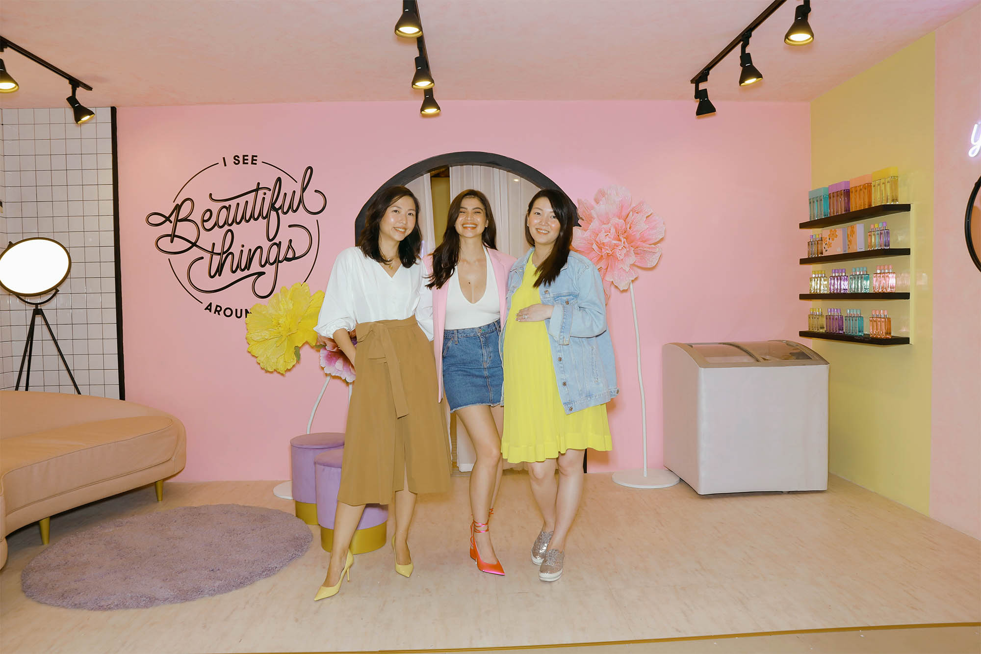 BLK GIRLS. The founders of the homegrown brand u2013 Jacqe Gutierrez, Anne Curtis, and Stephanie Yap-Abellada. Photo courtesy of blk