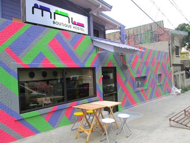 STAY HERE. The inviting facade of MNL Boutique Hostel. All photos from MNL Boutique Hostel