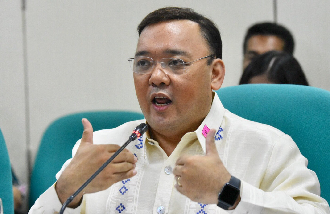 SPEAKING FOR DUTERTE. Presidential Spokesman Harry Roque's messaging as Duterte's spokesman is radically different from his stances as a human rights lawyer. Photo by Angie de Silva/Rappler