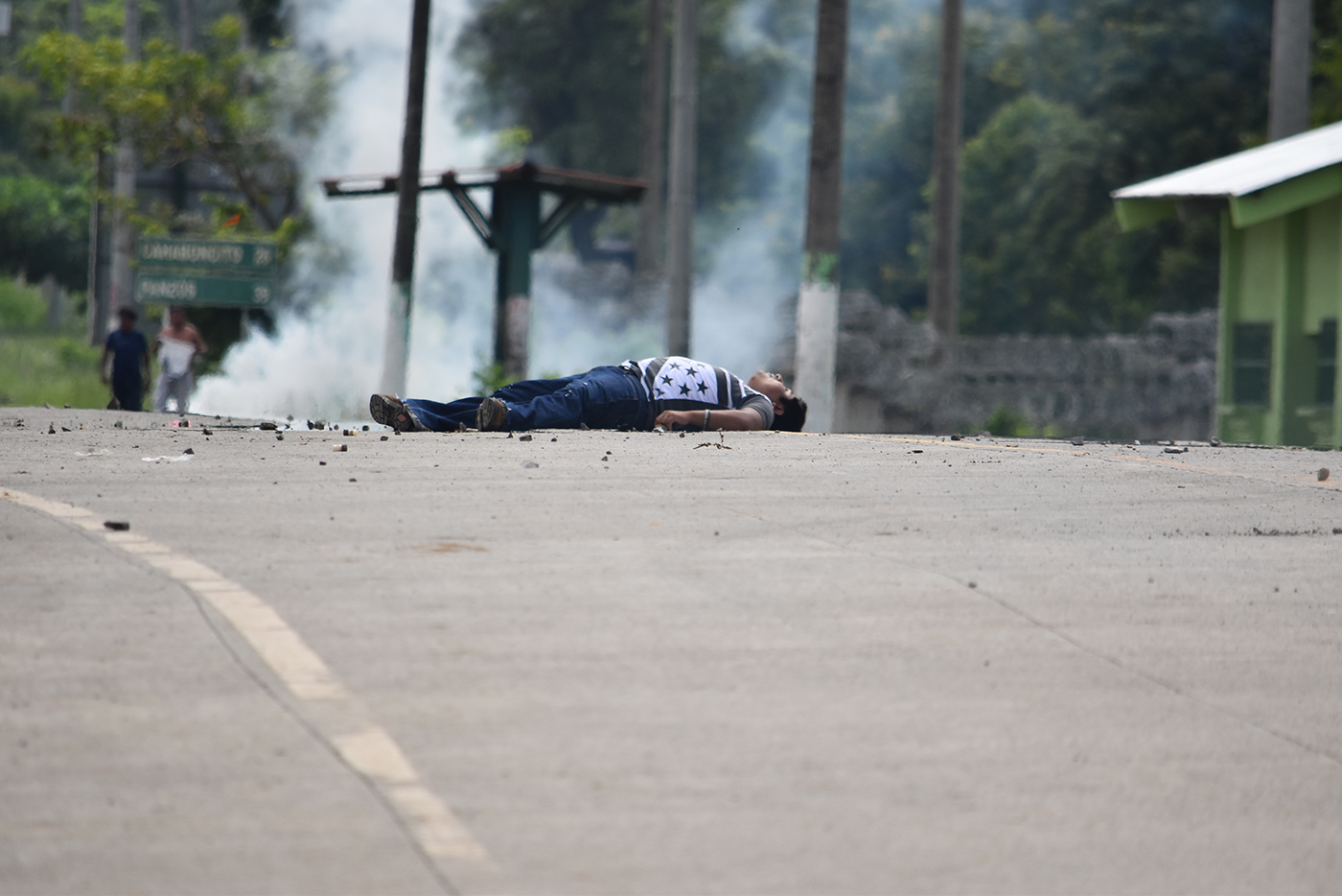 EVIDENCE. Carlos Maaz was killed during a demonstration on May 27, 2017 in El Estor. Photo courtesy of Carlos Choc
