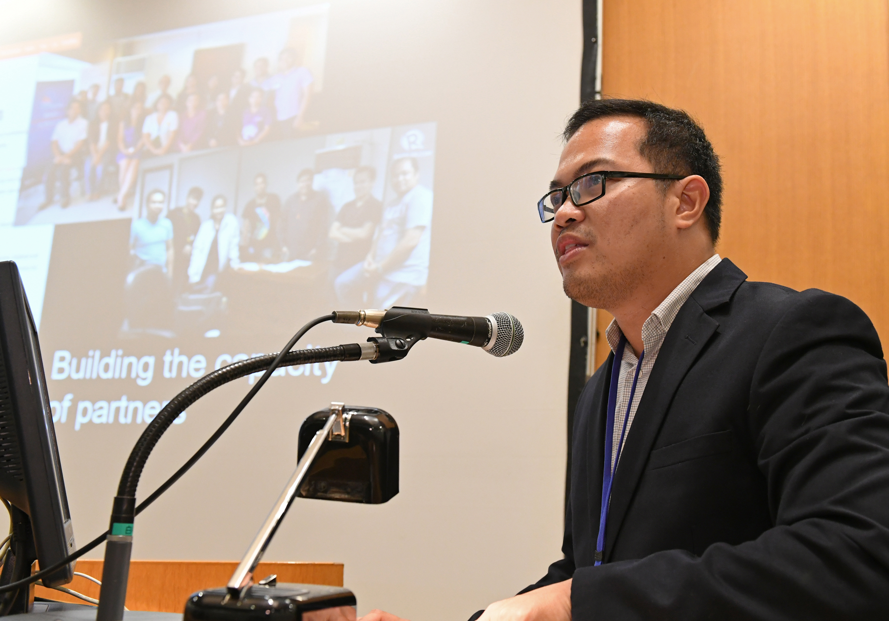 WORLD BOSAI FORUM. MovePH editor Voltaire Tupaz delivers a speech at the World Bosai Forum/International Disaster and Risk Conference held in Sendai, Japan from November 25 to 28, 2017. Photo courtesy of Kahoku Shimpo Publishing Co.