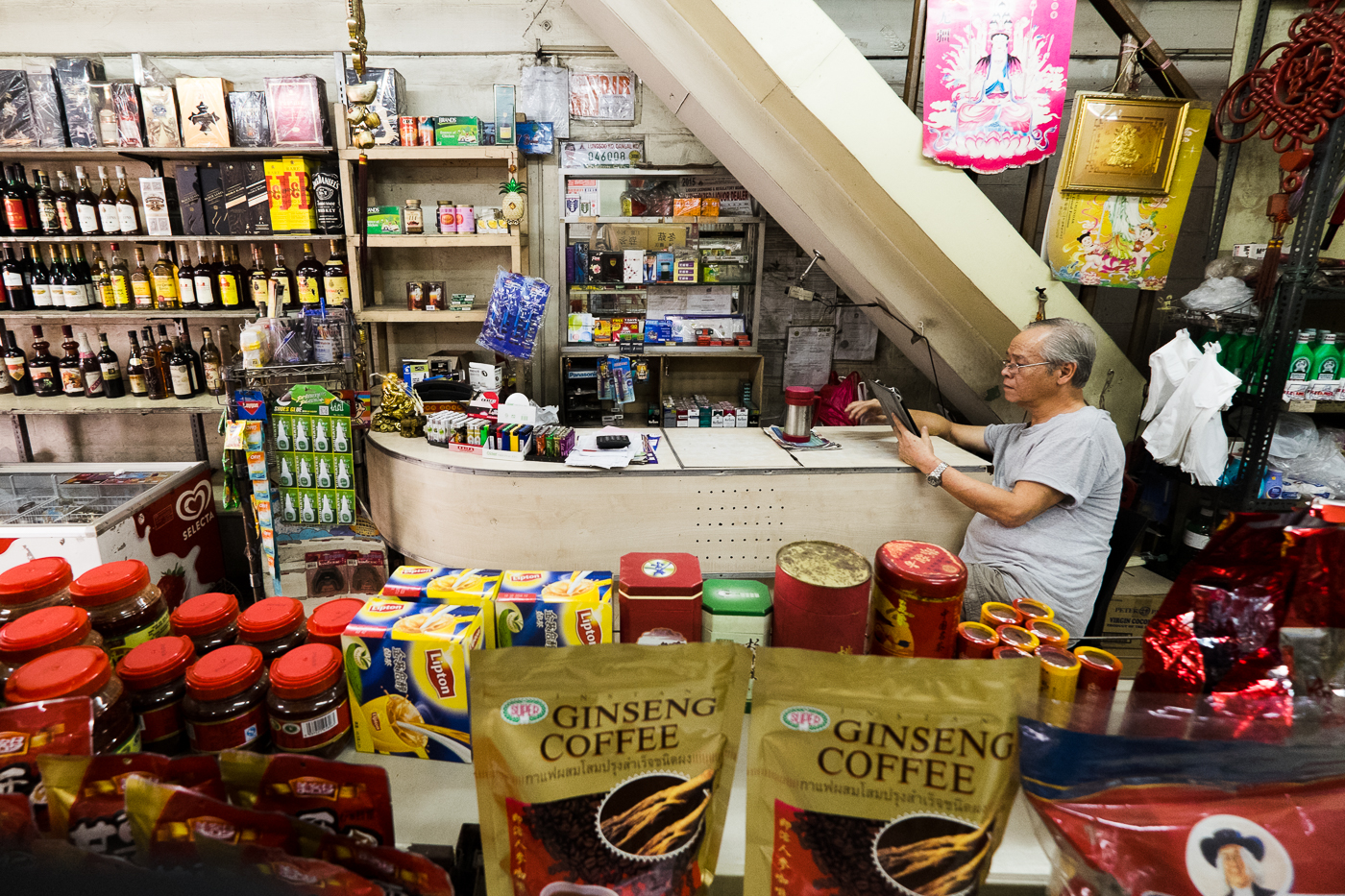 Kangsheng Trading is a Chinese convenience store that sells imported snacks and cooking ingredients.