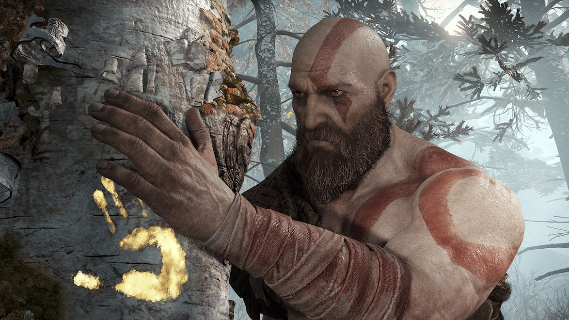 SCANDINAVIA. Kratos flees Greece and hides in the lush, snow-covered, undead-laden landscape of a fantastical, fictionalized Northern Europe