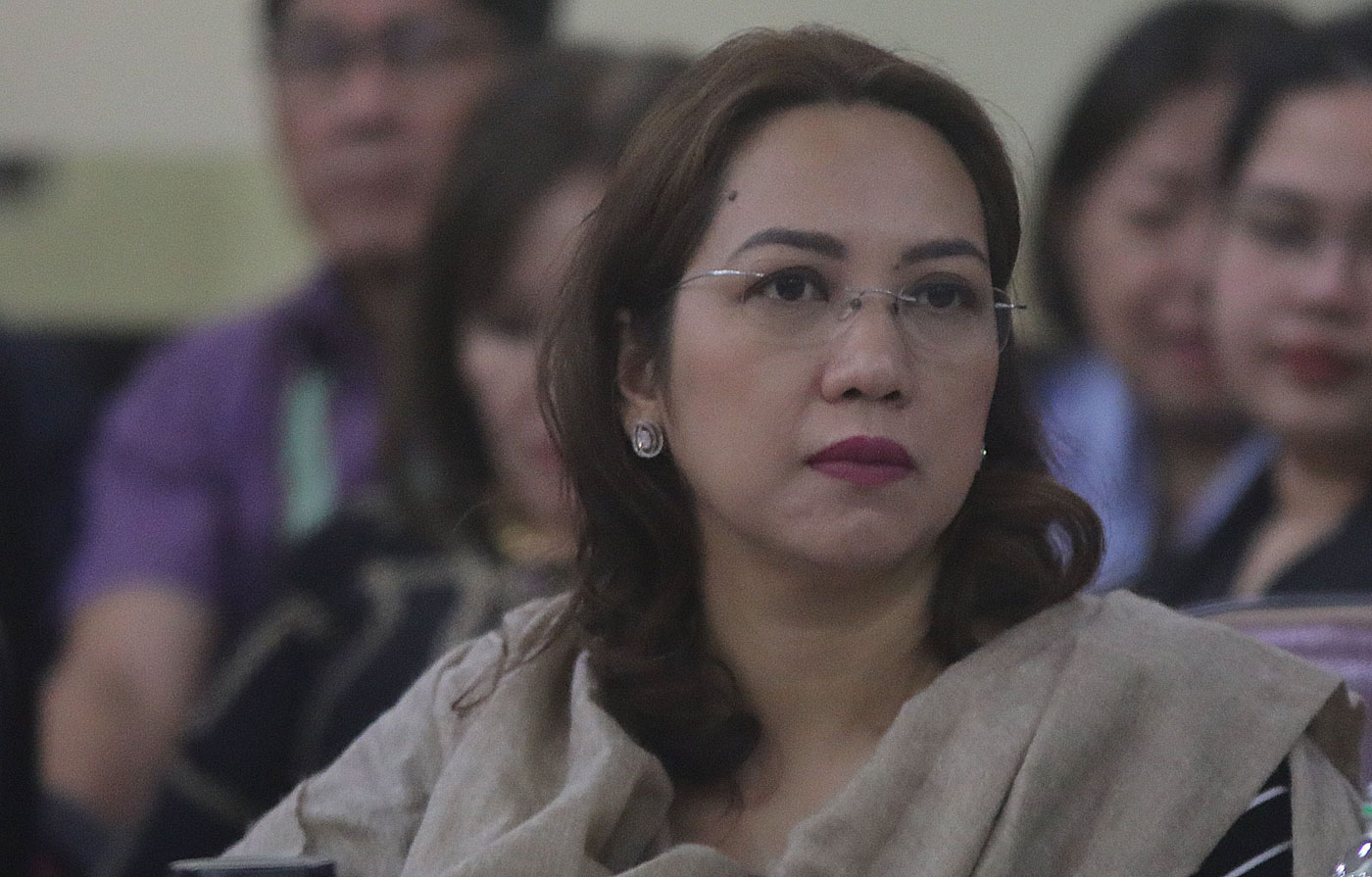 DENGVAXIA PROBE. Former Health Secretary Janette Garin attend a House probe into alleged anomalies in the procurement of dengue vaccines by the Philippine government. Photo by Darren Langit/Rappler