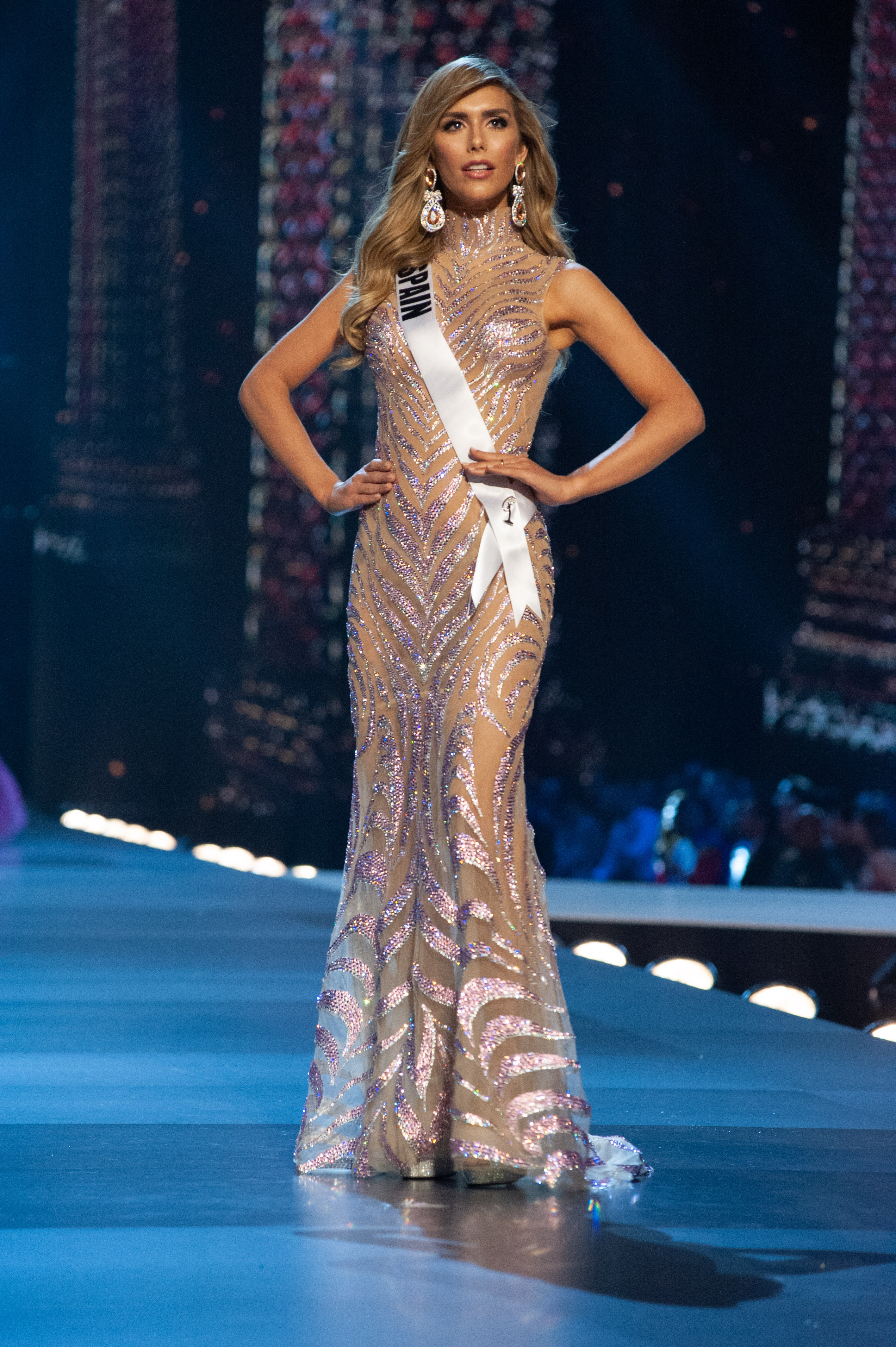 EVENING GOWN. Angela  during the Preliminary Competition at IMPACT Arena in Bangkok, Thailand on Thursday, December 13th. Photo by Patrick Prather/Miss Universe