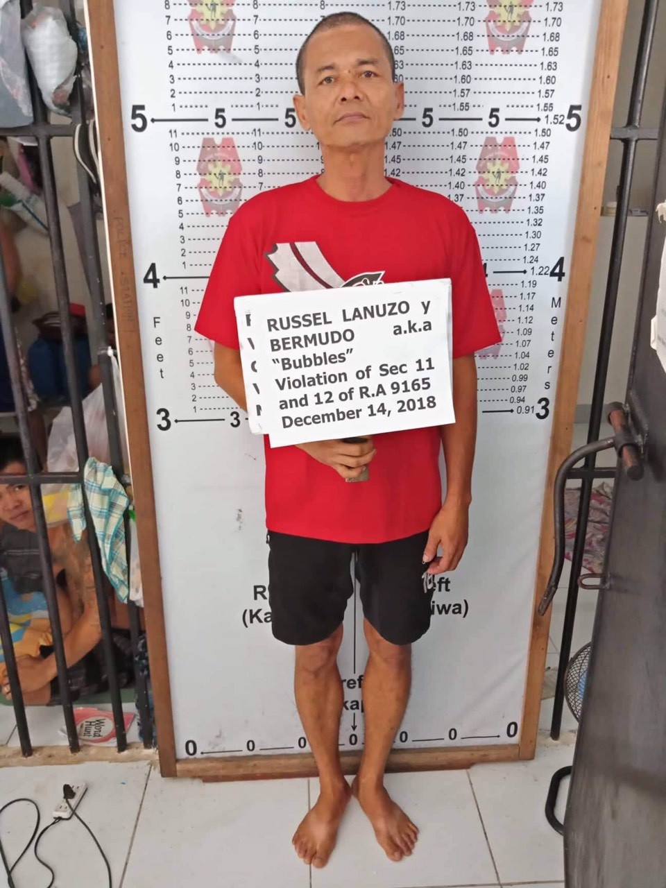 DRUG SUSPECT. Russel Bermudo was the subject of the drug operation in Naga City. Photo from Naga City Police Station