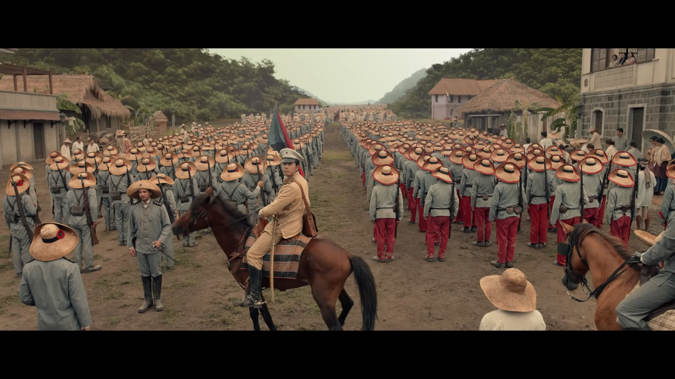 READY FOR BATTLE. Goyo and his men get ready to fight.