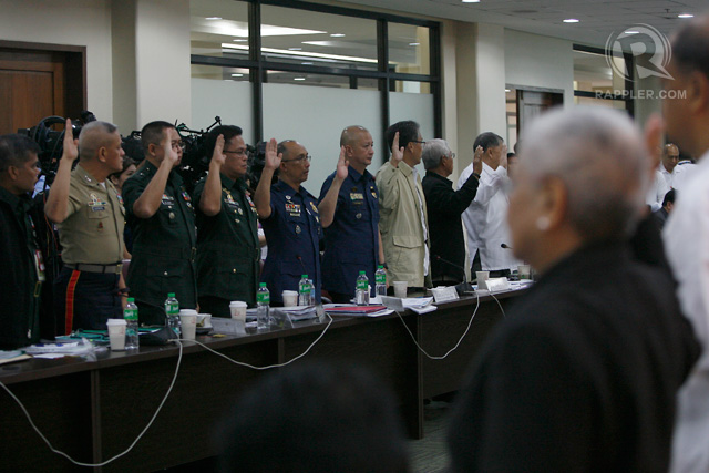 CONTINUATION. Resource persons attend the hearing of the congress inquiry in the Mamasapano, Maguindanao encounter at the House of Representatives in Quezon City on Wednesday. Photo by Ben Nabong/Rappler
