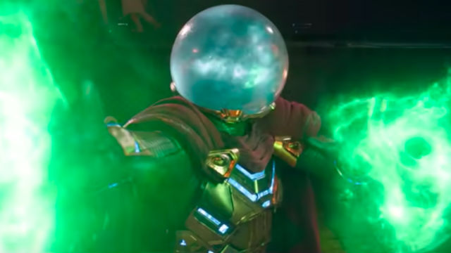 FRIEND OR FOE. What role will Mysterio play in Peter's life?