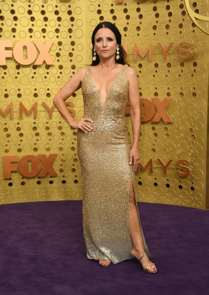 Julia Louis-Dreyfus arrives for the 71st Emmy Awards at the Microsoft Theatre in Los Angeles on September 22, 2019. Photo by Valerie Macon/AFP