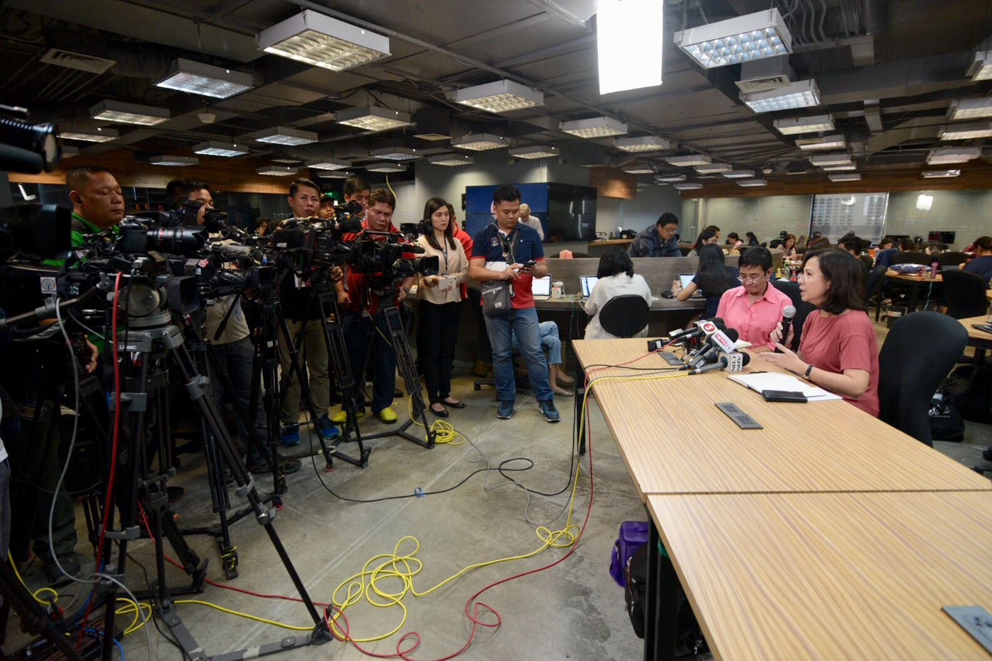 MEDIA ISSUE. Rappler holds a press conference on its SEC case on January 15, 2018. Photo by LeAnne Jazul/Rappler
