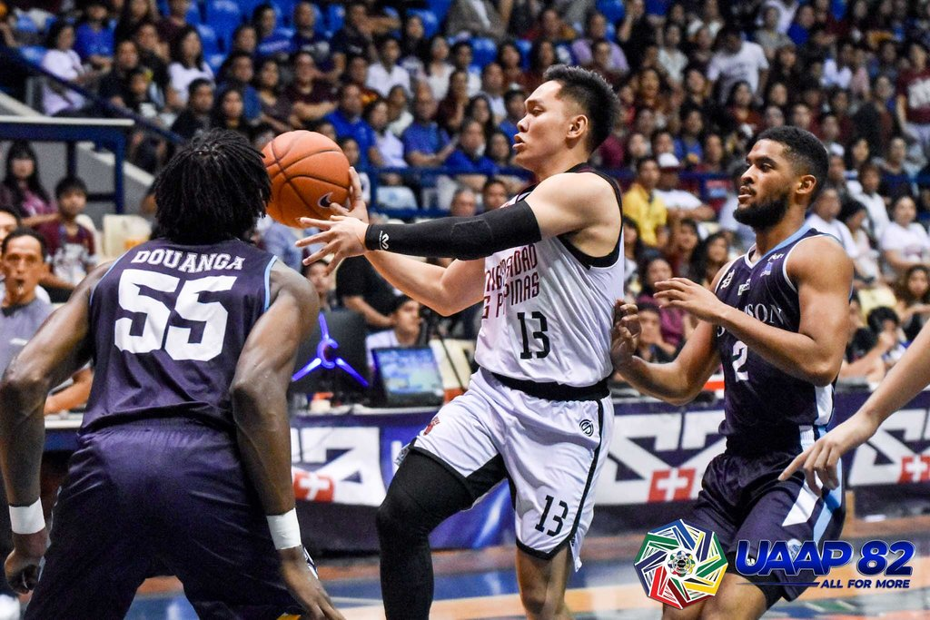STEADY. UP team captain Jun Manzo provides the leadership that helped the Maroons turn the game around  in the last 7 minutes after trailing by 12 points, 60-72. Photo release