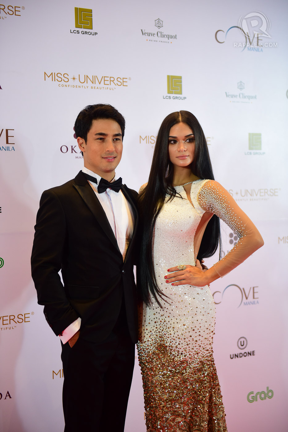 IN THE BEGINNING. The couple makes their red carpet debut at the Miss Universe after party in 2017. File photo by Alecs Ongcal/Rappler