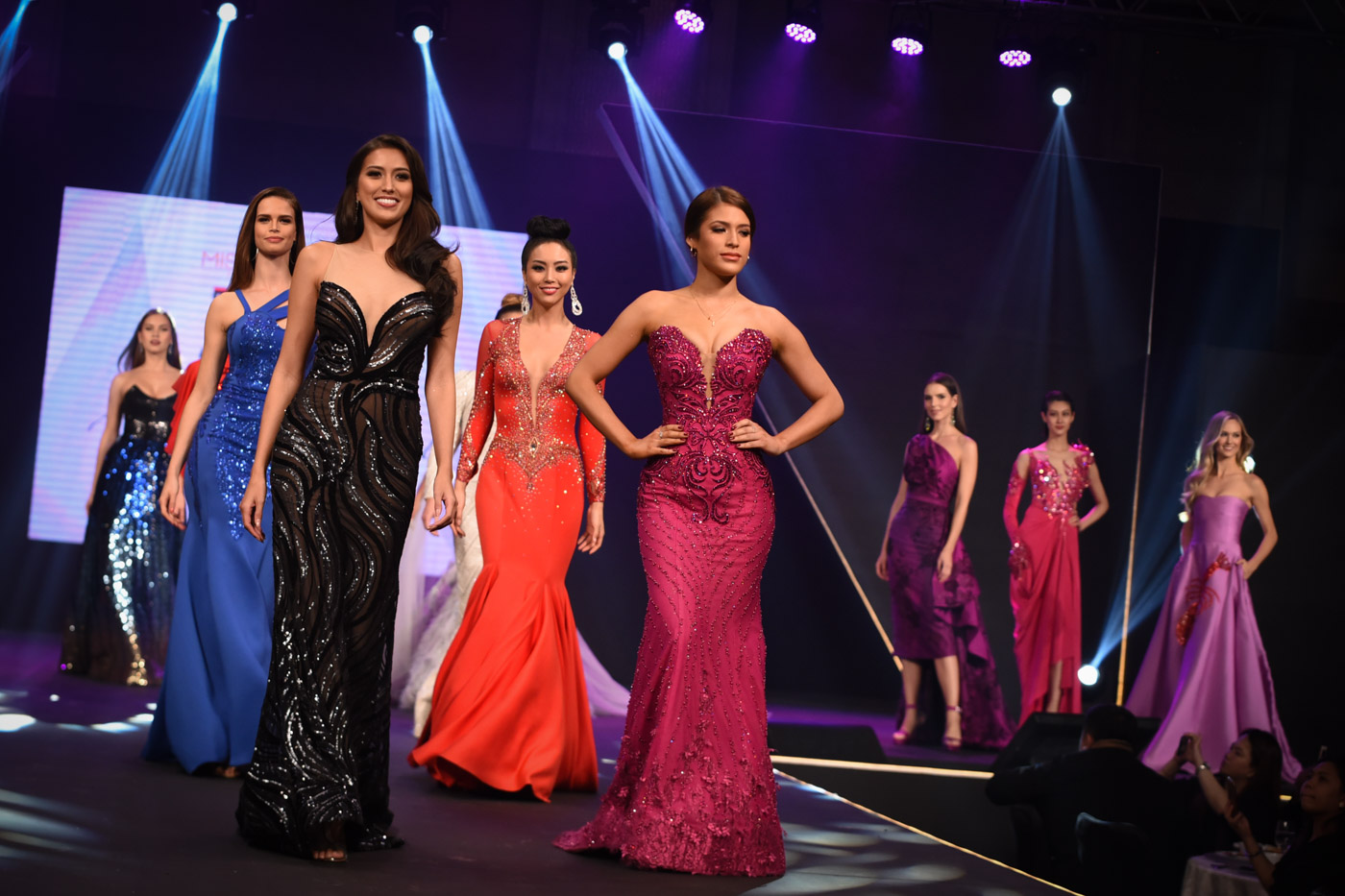 The 2017 Miss Universe candidates sashay in the runway in evening gowns by the country's top designers