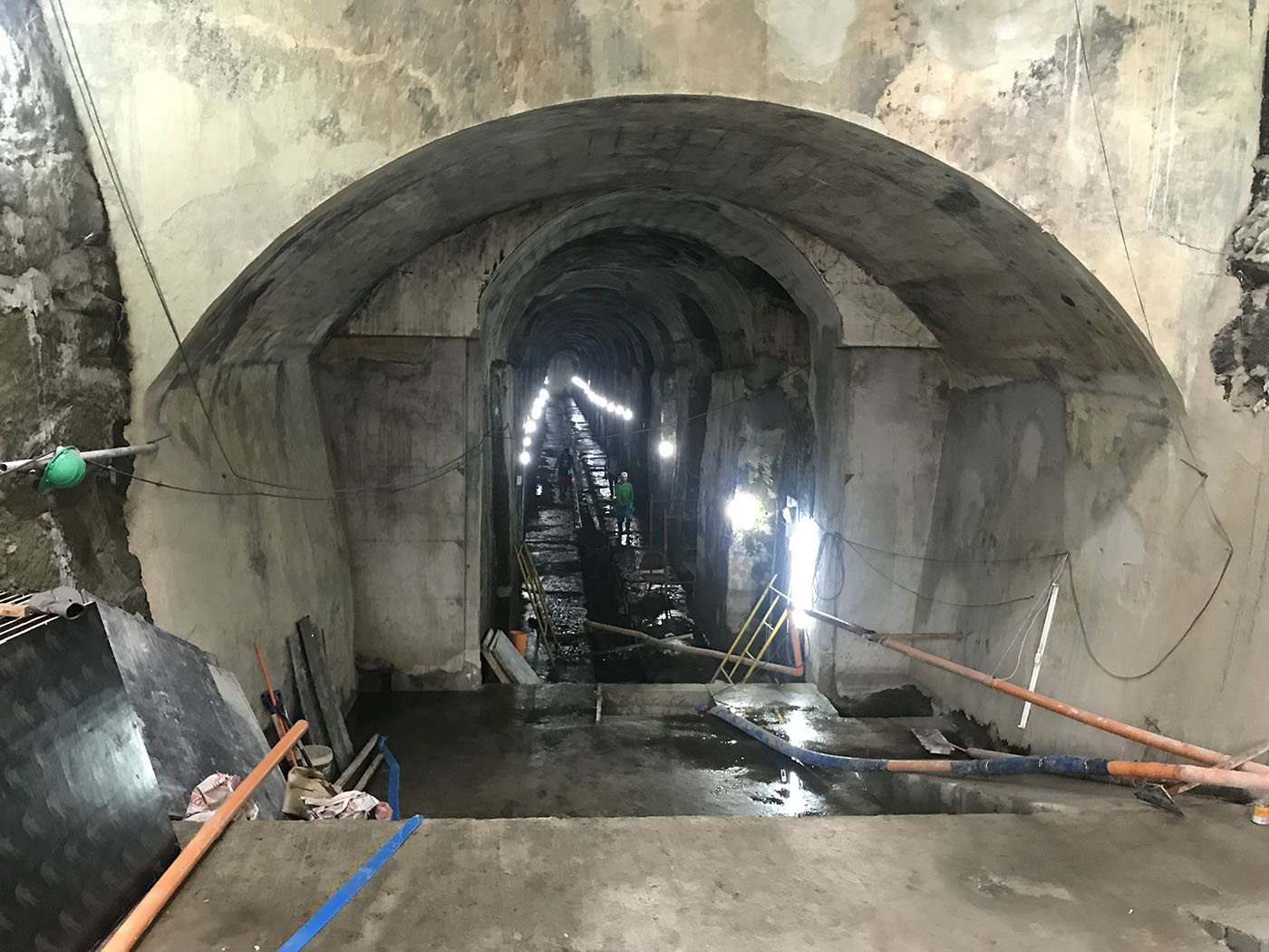 The entrance to El Deposito's underground waterways. The NHCP wants this opened to the public by early next year.