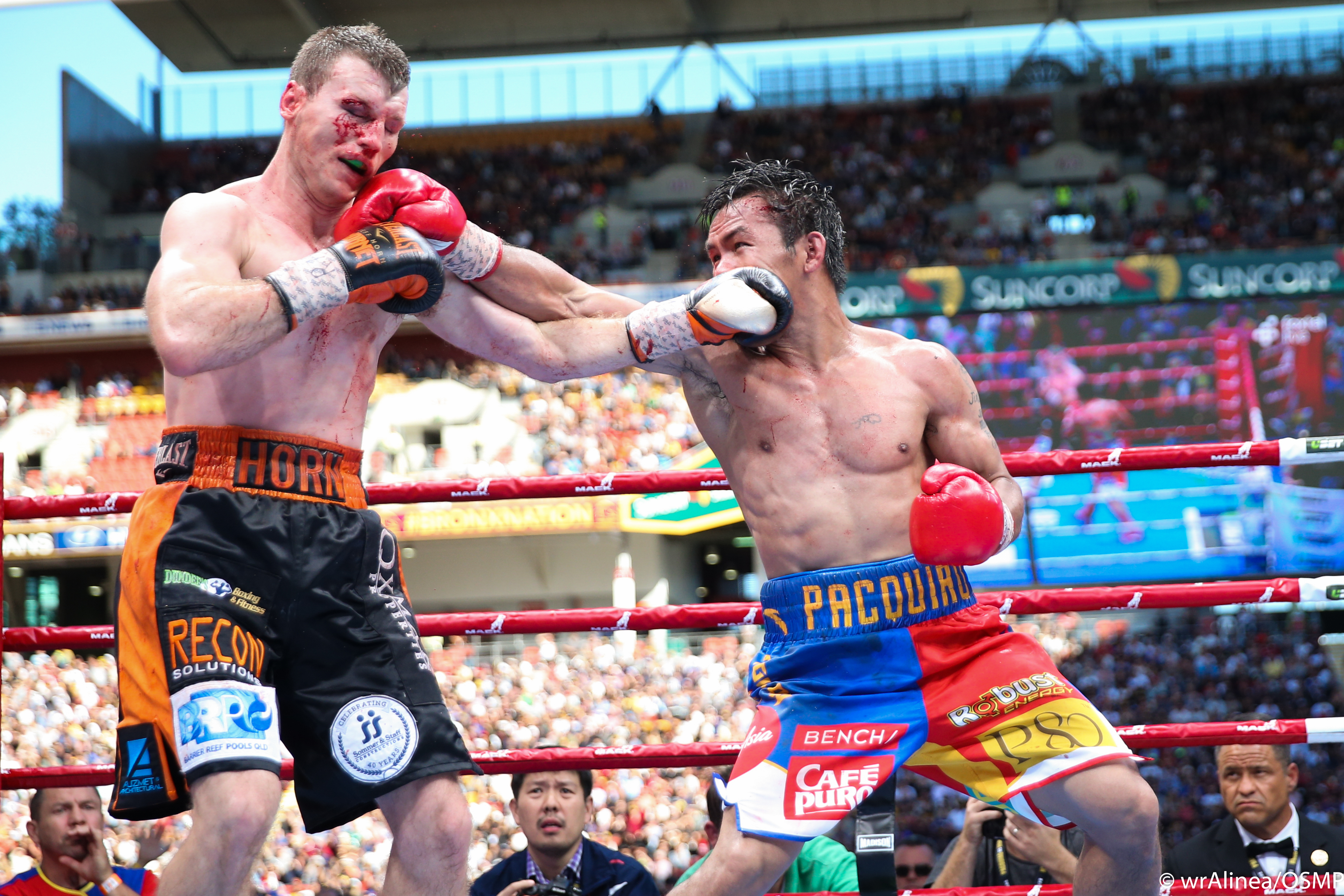 POSTPONED. Manny Pacquiao and Jeff Horn won't fight until at least 2018. Photo by Wendell Alinea/OSMP