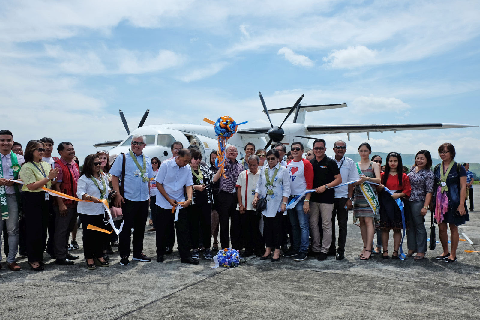 Ribbon cutting ceremony on the tarmac of Bagabag Airport led by DOT officials u0026 the provincial government of Nueva Vizcaya. Photo by Potpot Pinili/Rappler