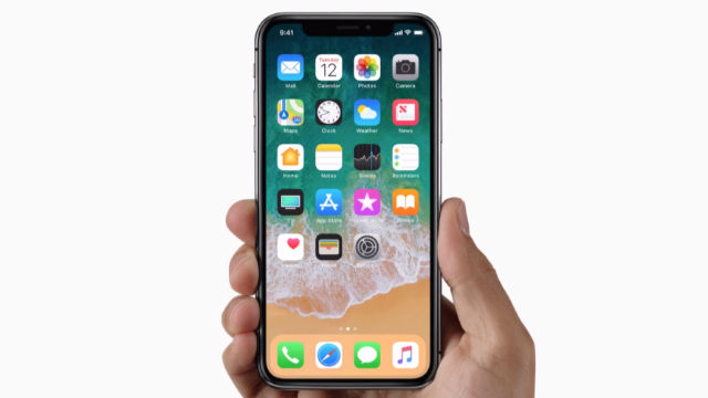 IPHONE X. The X uses an edge-to-edge 'Super Retina Display'