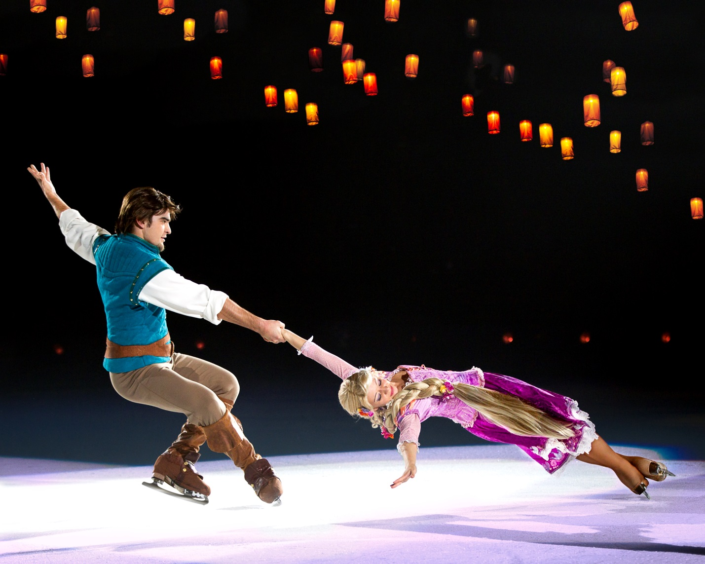 RAPUNZEL. Rapunzel and Flynn Rider of Disney's 'Rapunzel' are brought to life in Disney on Ice. Photo courtesy of FleishmanHillard