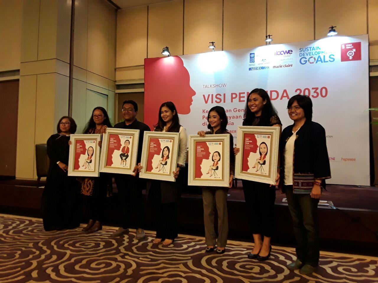 Para pembicara Visi Pemuda 2030. Foto dari AIESEC Indonesia
