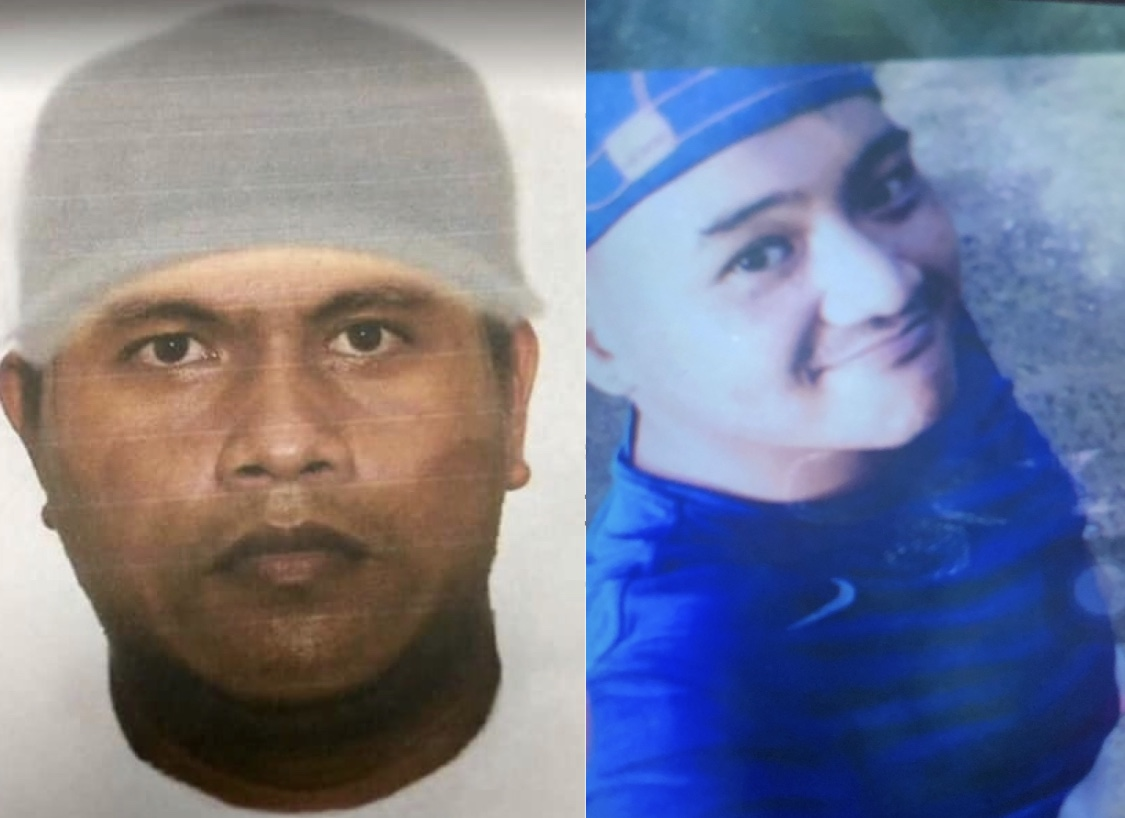 COMPARE: (left) The PNP's computerized sketch of the suspect and (right) the arrested Adell Milan. Photo by Eloisa Lopez/Rappler