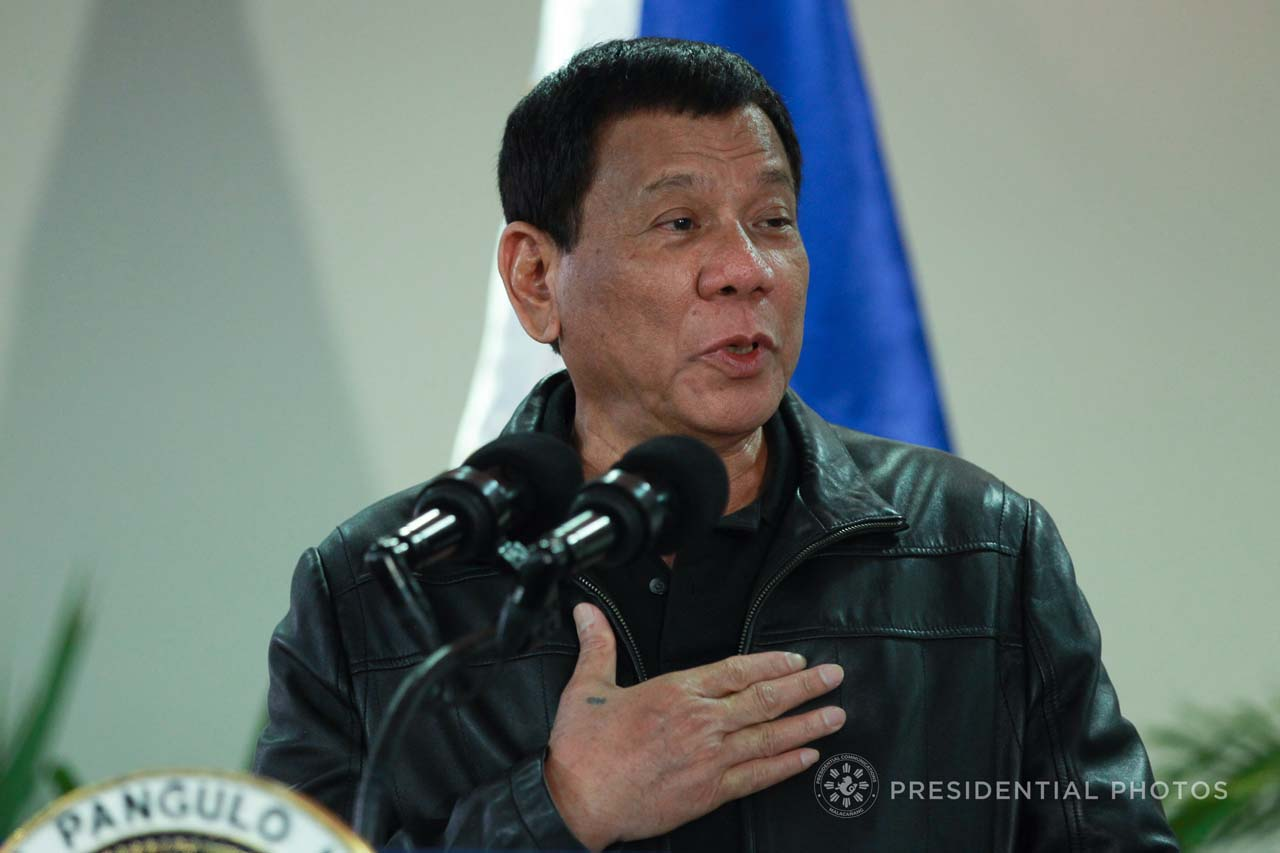 BACK FROM JAPAN. President Rodrigo Duterte arrives from a successful trip to Japan and speaks at the Francisco Bangoy International Airport in Davao City on October 31, 2017. Presidential photo