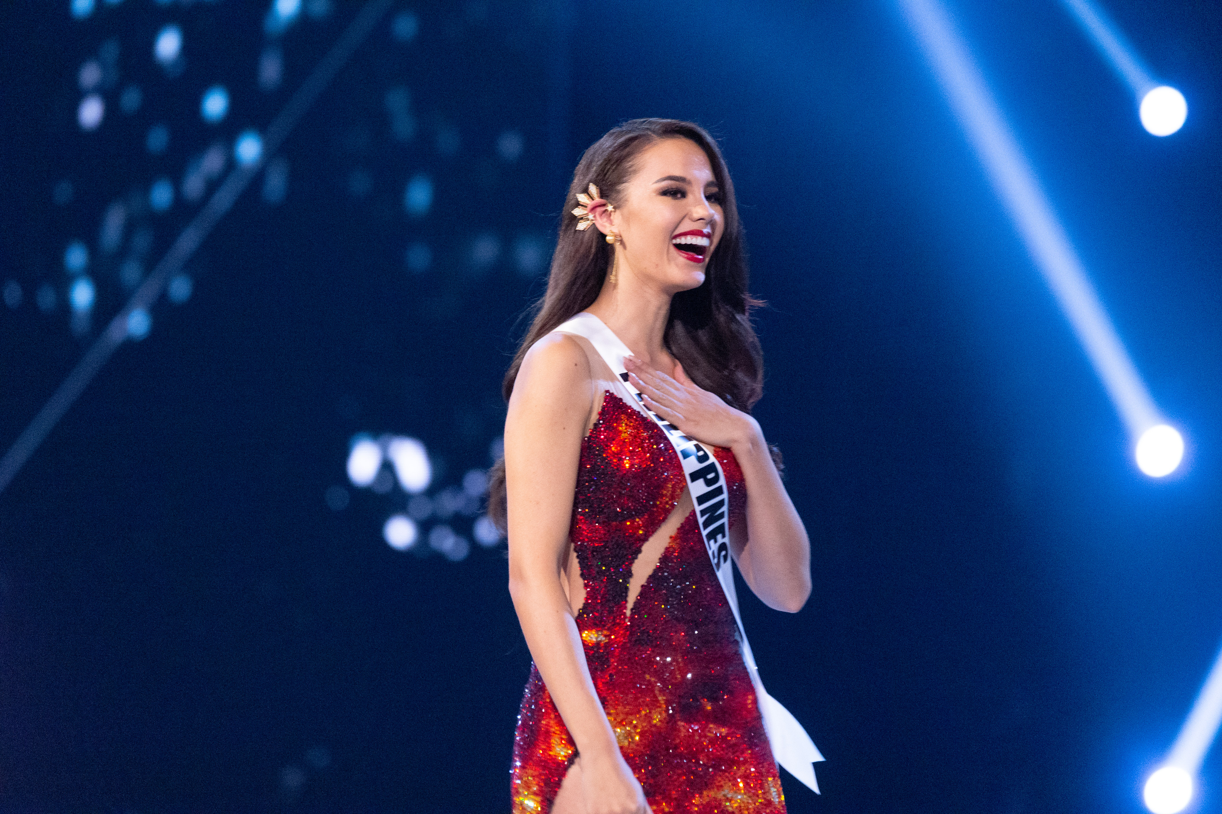 TOP 3.Catriona Gray, Miss Philippines 2018 is announced as a Top 3 finalist during the Miss Universe pageant. Photo by the Miss Universe Organization