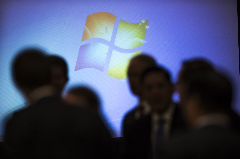 PRO-DIVERSITY. Microsoft is tying executive bonuses to diversity gains. Photo by Fred Dufour/AFP