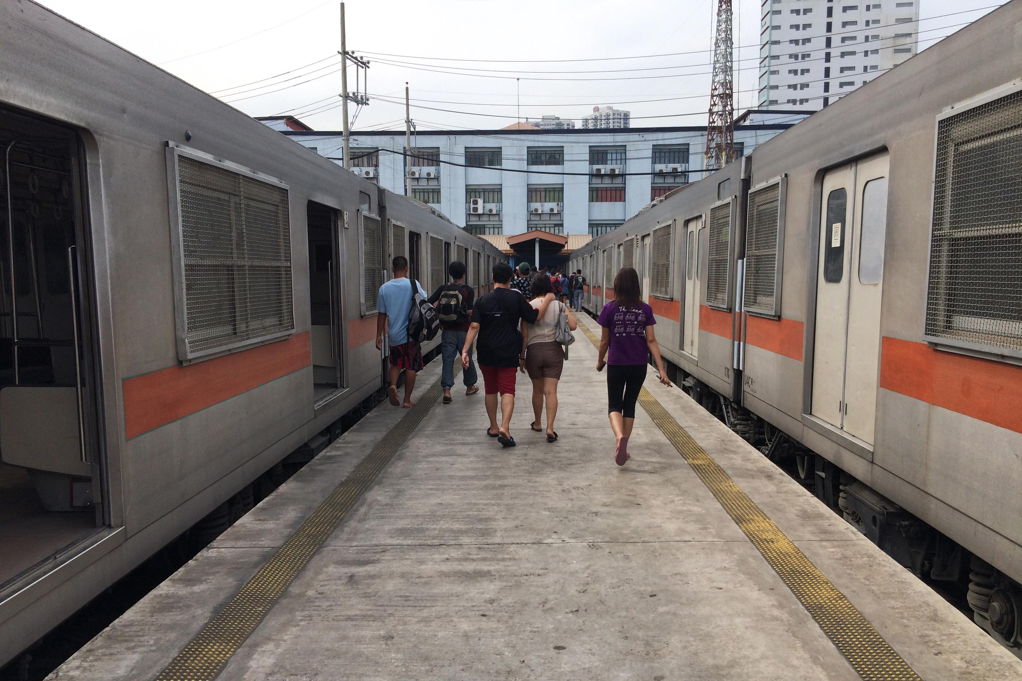 TRAIN TO TUTUBAN. Forget the LRT and the MRT. For once, try these trains of the Philippine National Railways that ply the Alabang-Tutuban route. Photo by Louie Lapat