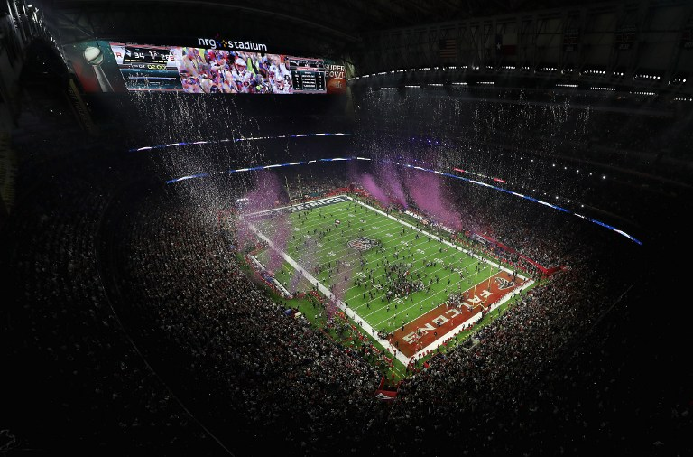 A general view of the field following the Patriots 34-28 win over the Falcons during Super Bowl 51 at NRG Stadium on February 5, 2017 in Houston, Texas. Tom Pennington/Getty Images/AFP