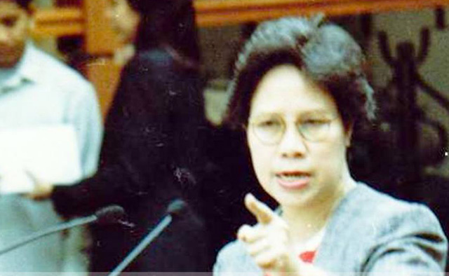 SENATE. Senator Santiago was known to be a colorful speaker at the Senate. Photo from MDS Facebook