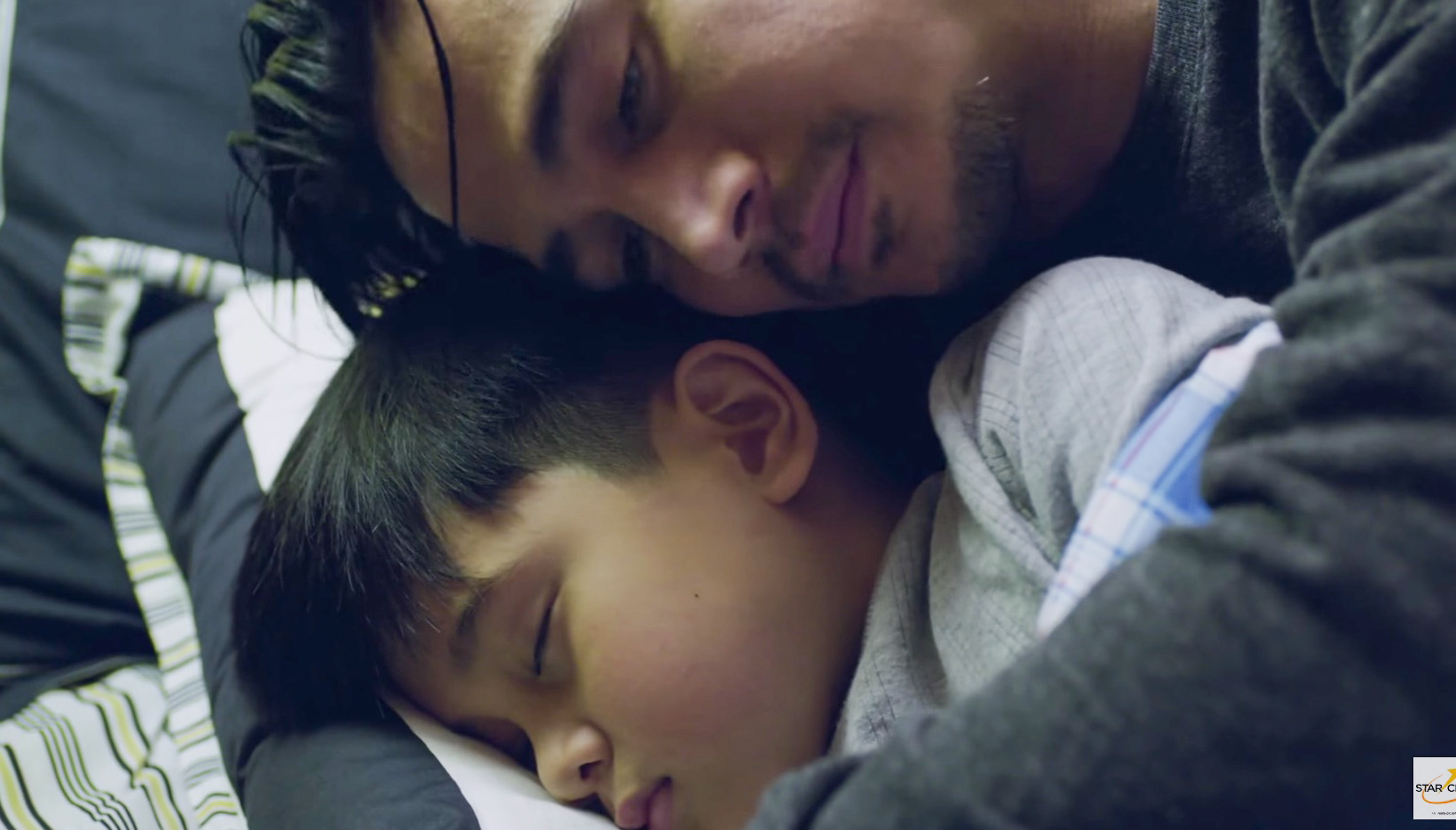 FATHER AND SON. Piolo Pascual and Raikko Mateo in a scene in 'Northern Lights.' Screengrab from YouTube/ABS-CBN Star Cinema