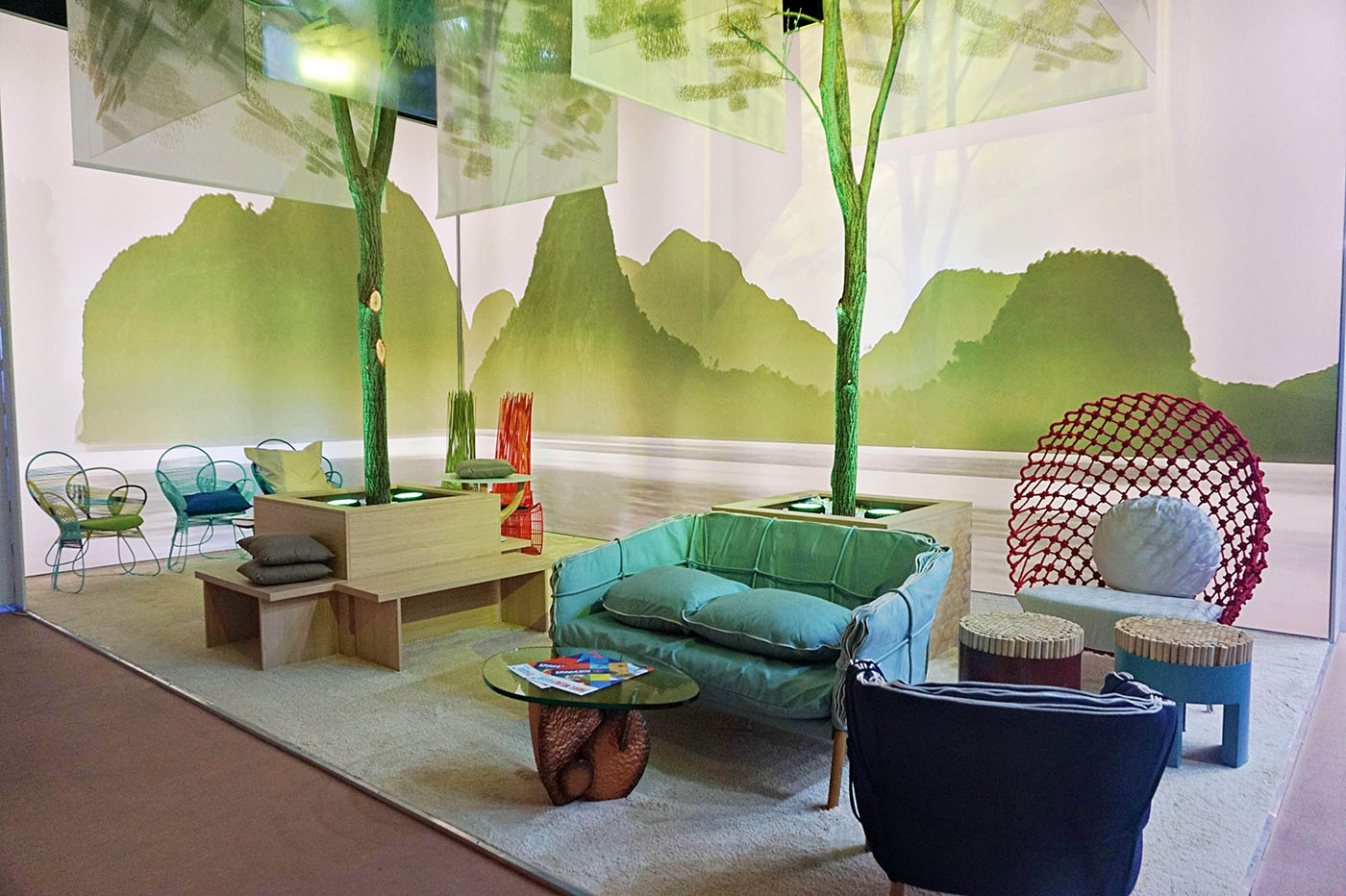 DESIGN. The Philippine furniture by Kenneth Cobonpue are also part of the booth during the trade fair.