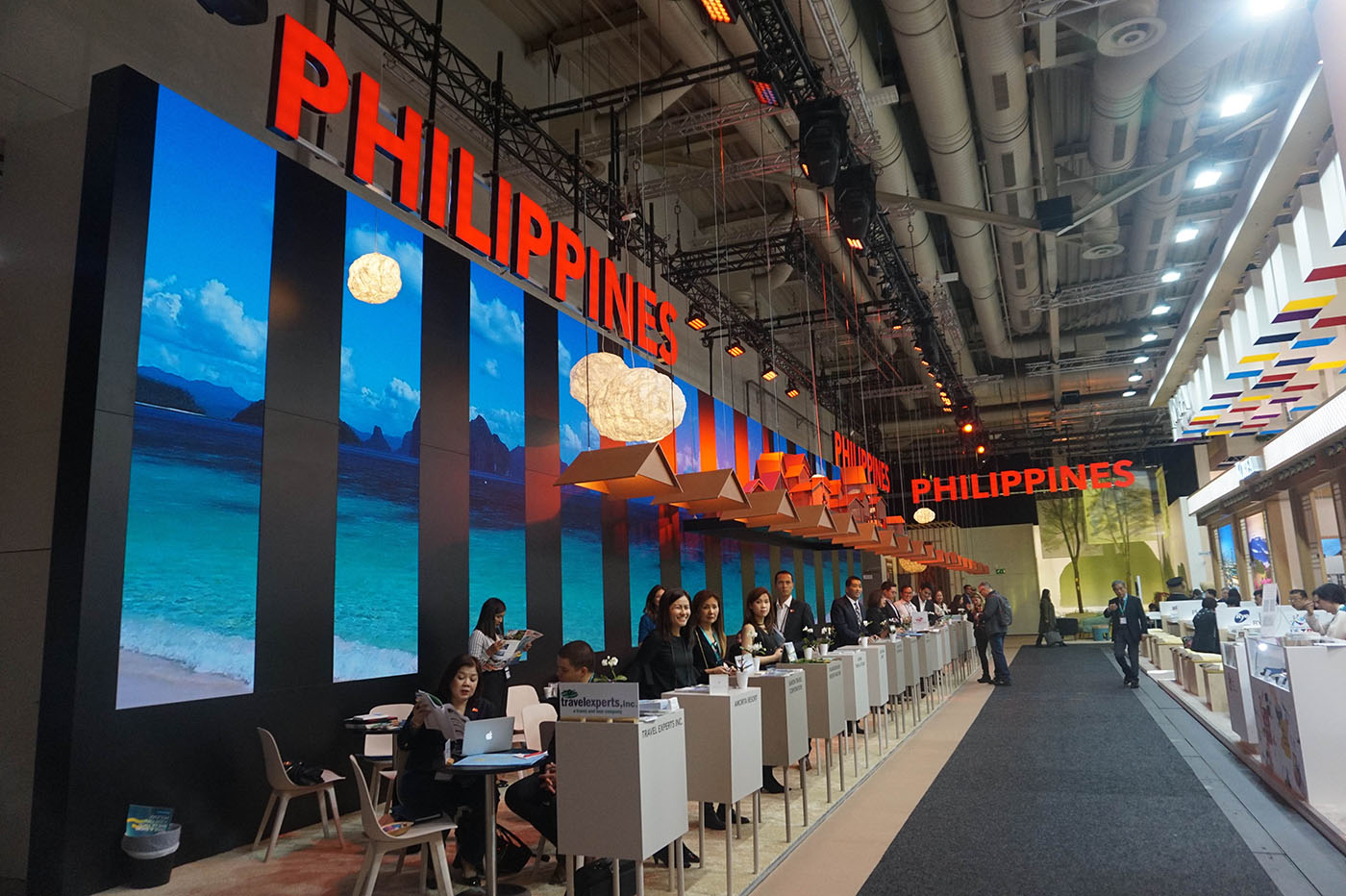 MORE FUN IN THE PHILIPPINES. A look at the booth of the Philippines during the trade fair in Berlin.