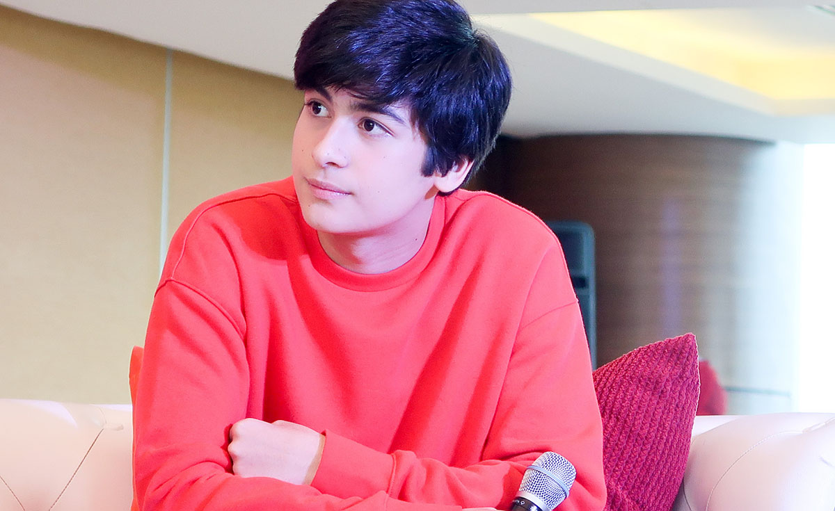 TEEN HEARTTHROB IN MAKING. Andres looks just like his dad Aga Muhlach.