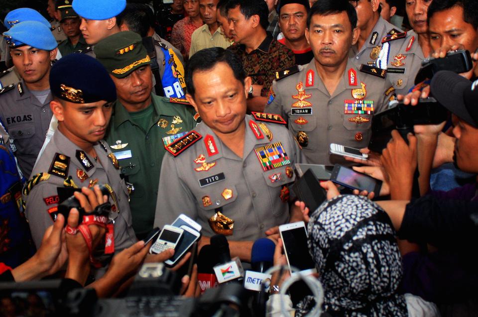 KAPAL PESIAR. Kapolri Jenderal Tito Karnavian mengatakan sabu seberat 1 ton yang berhasil disita oleh polisi pada Kamis, 13 Juli diangkut masuk dengan kapal pesiar dari Taiwan menuju ke Anyer. Foto oleh Moko WH/ANTARA