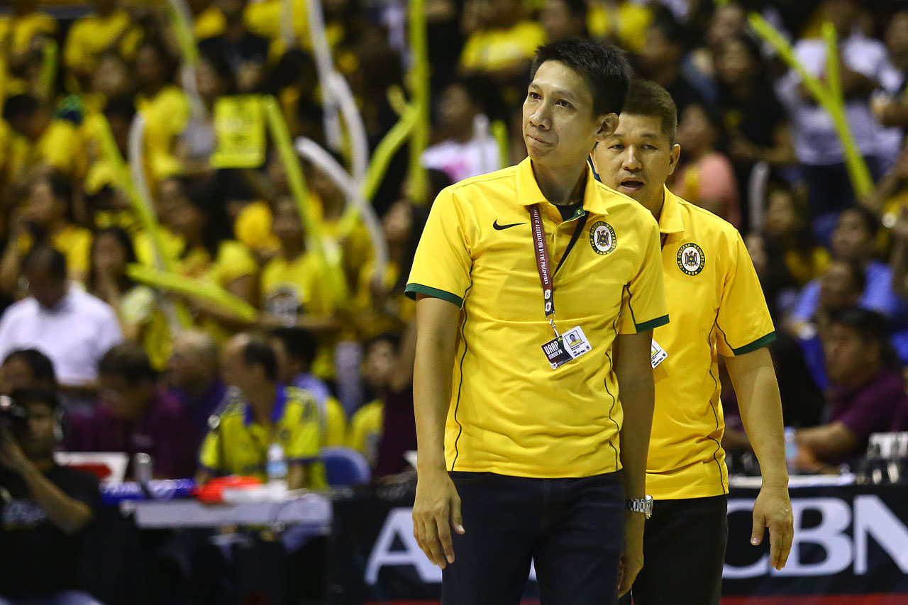 SIMILAR SITUATION? Coach Nash Racela and the Tamaraws also won Game 1 last season before losing the last two games. Can they change the outcome this time around? Photo by Josh Albelda/Rappler