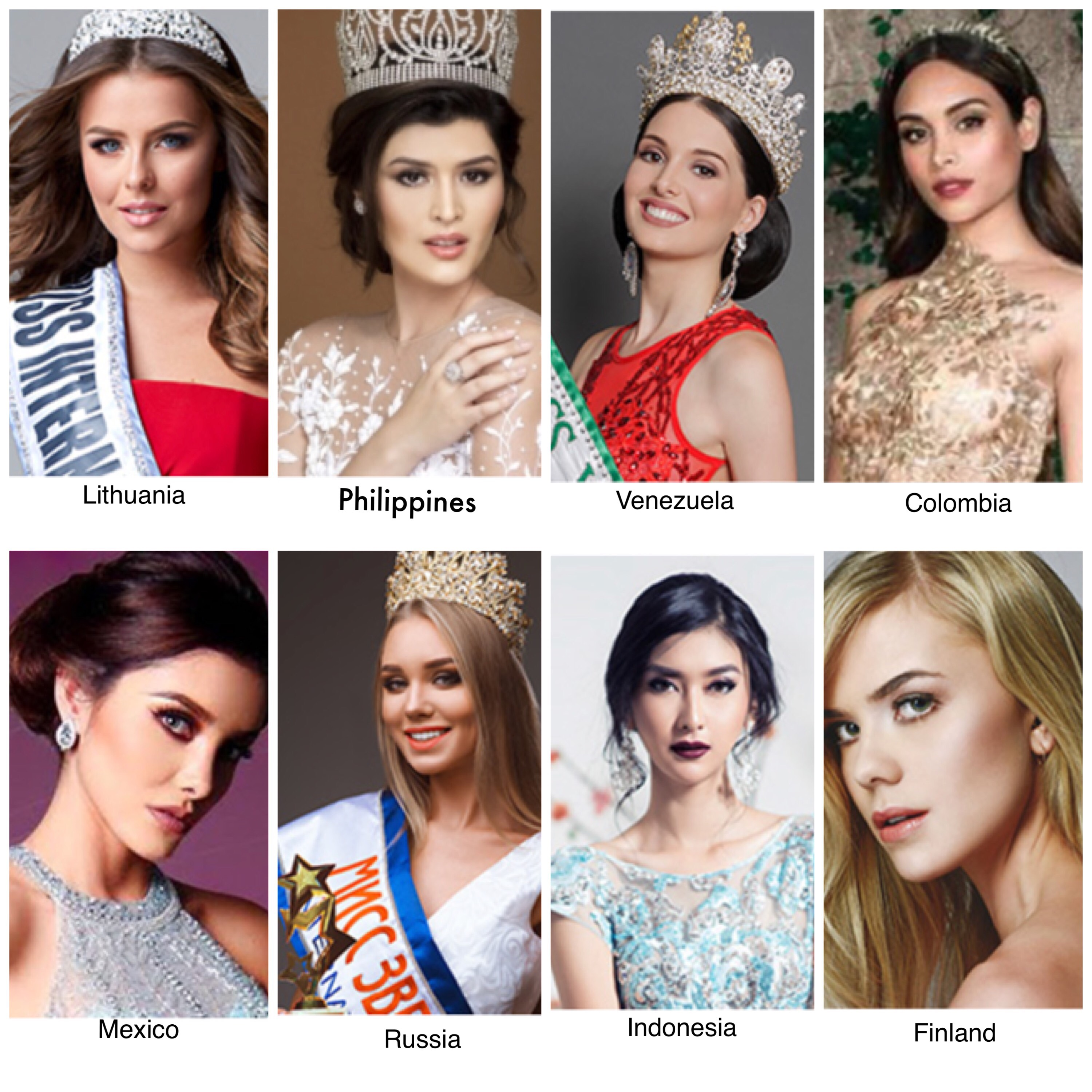 MISS INTERNATIONAL POTENTIAL. Mariel de Leon aims for a back-to-back, but any of these ladies may also become the winner. Photos from Miss International website