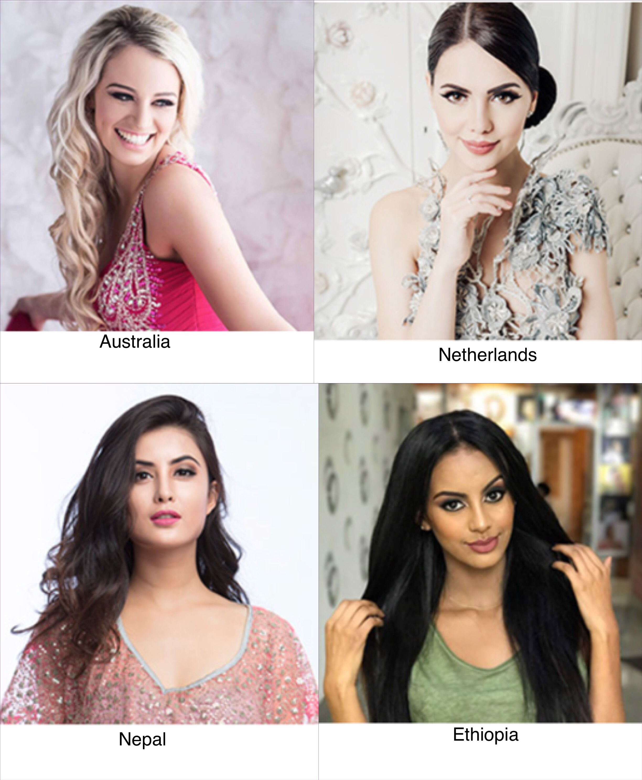DARK HORSE. These countries can enter the Top 15. Photos from Miss International website