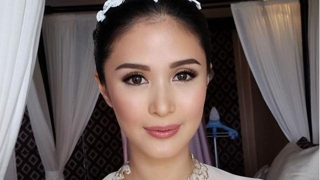 GLOWING. Heart Evangelista on her wedding day. Screengrab from Instagram/Albert Kurniawan
