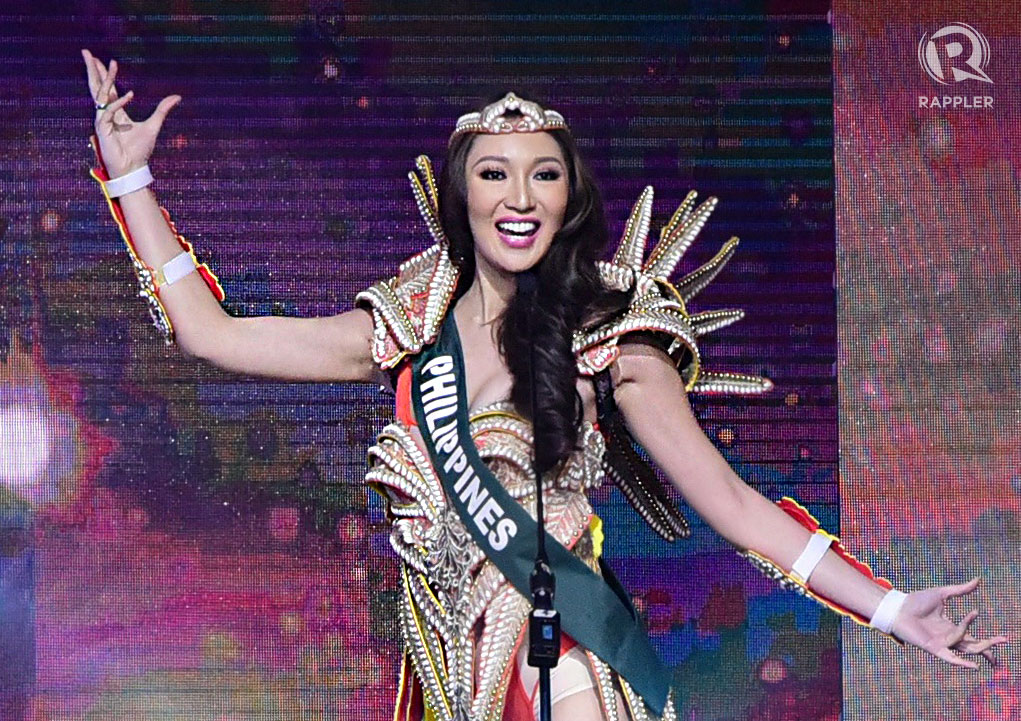Karen in her superhero costume during the Miss Earth 2017 opening. Photo by Alecs Ongcal/Rappler