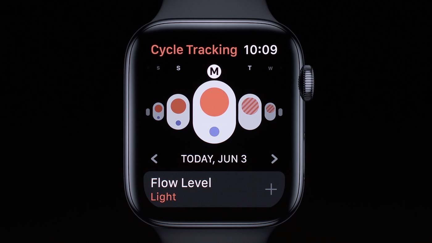 Screenshot from Apple livestream
