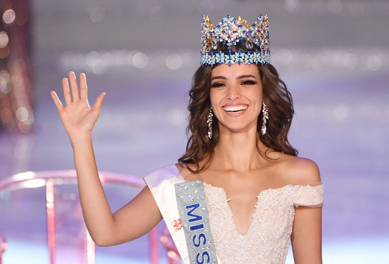 MISS WORLD 2018. Miss Mexico Vanessa Ponce de Leon waves after winning the 68th Miss World contest final in Sanya, on the tropical Chinese island of Hainan on December 8, 2018. File photo by Greg Baker/ AFP