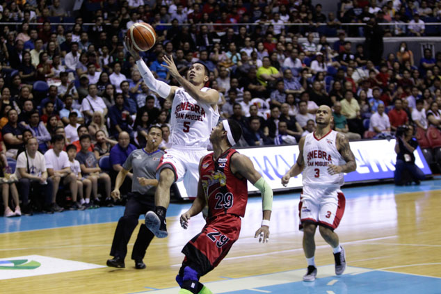 LA Tenorio drives to the basket. Photo by Czeasar Dancel/Rappler
