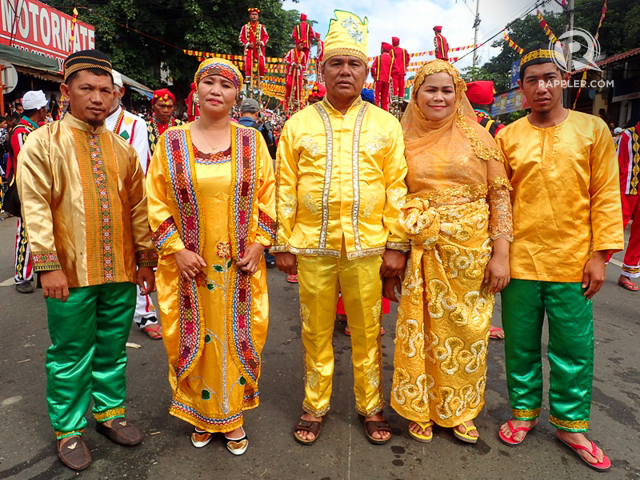 MUSLIM MANOBOS. Indigenous people who have also embraced another faith, like the Muslim Manobos, also participate in the festival.