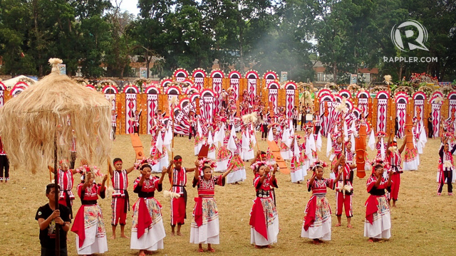 BEST GROUND PRESENTATION. Pangantucan municipality, which features a Manobo wedding among other rituals and dances, was first in ground presentation.